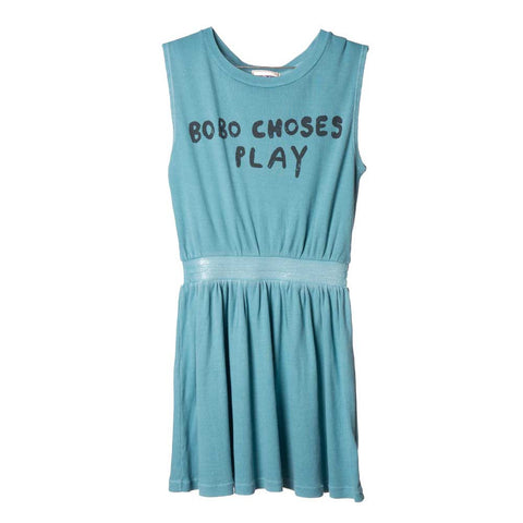 Bobo Choses BC Play Turquoise Tennis Dress - Yellow Lolly