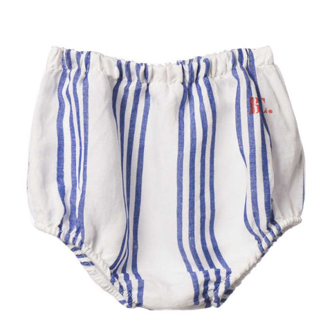 Bobo Choses Blue and White Striped BC Culottes - Yellow Lolly