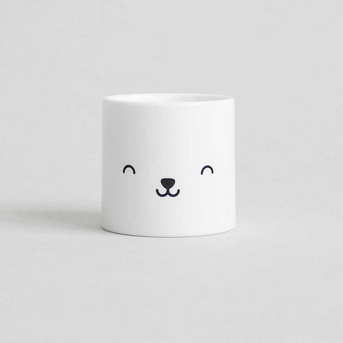 Buddy and Bear Bear Face Egg Cup - Bear Eyes are Closed