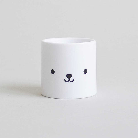 Buddy and Bear Bear Face Egg Cup - Bears Eyes are Open
