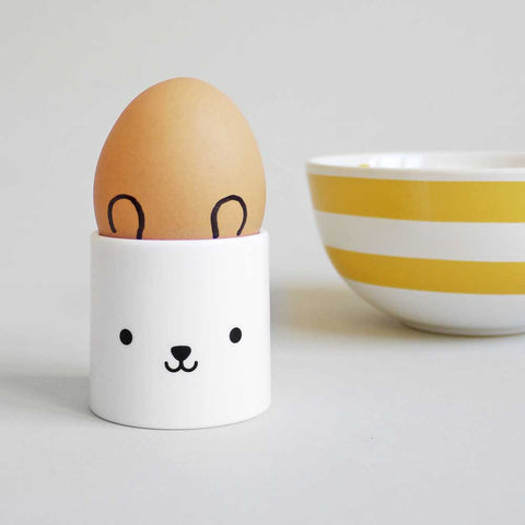 Buddy and Bear Bear Face Egg Cup With Egg