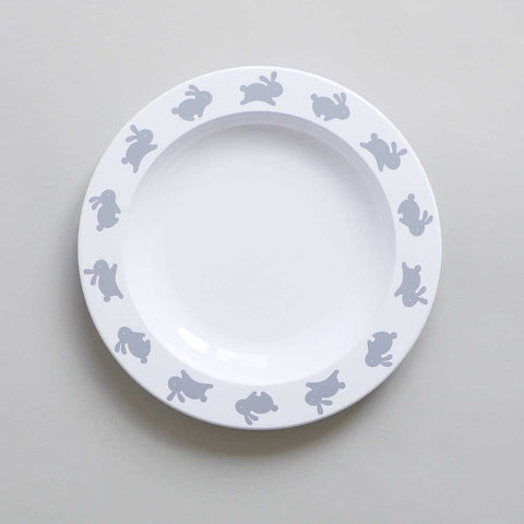 Buddy and Bear Happy Bunny Child's Plate at Yellow Lolly