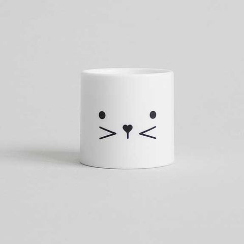 Buddy and Bear Bunny Face Egg Cup - Eyes Open
