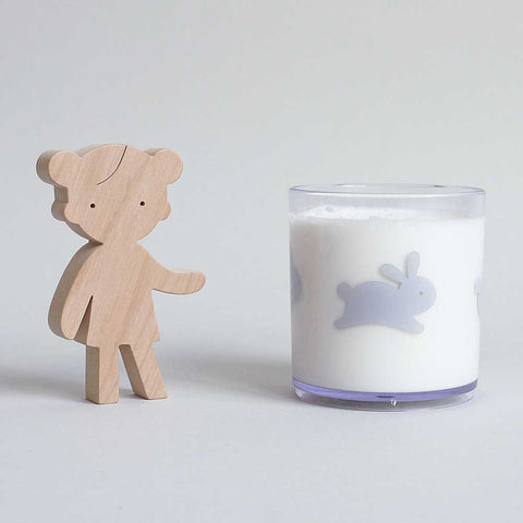 Buddy and Bear Happy Grey Bunny Tumbler at Yellow Lolly
