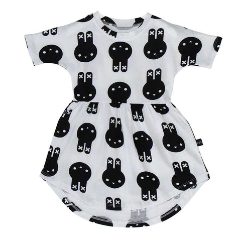 Huxbaby White Hux Bunny Swirl Dress - Yellow Lolly