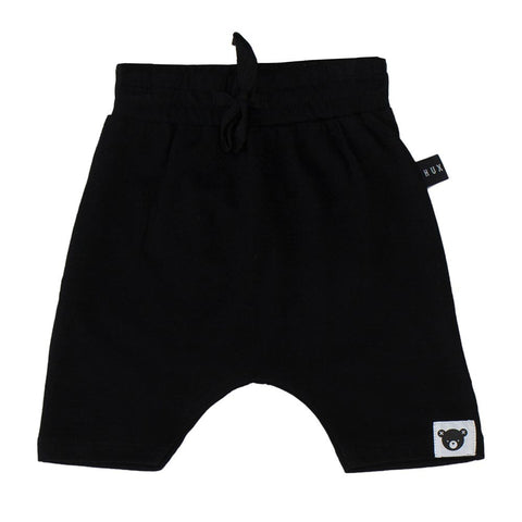 Huxbaby Black Drop Crotch Shorts - Yellow Lolly