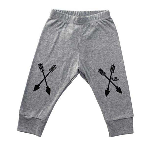 Hello Apparel Grey Arrows Leggings