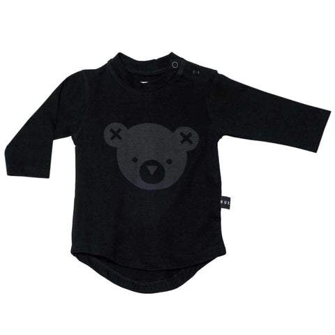 HuxBaby UK Hux Black Bear Long Sleeved T at Yellow Lolly