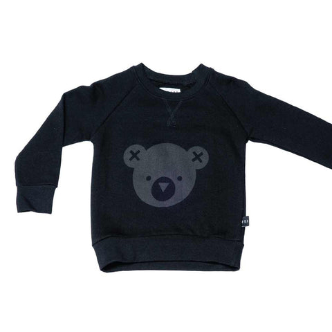 HuxBaby UK Black Hux Bear Fleece Sweatshirt