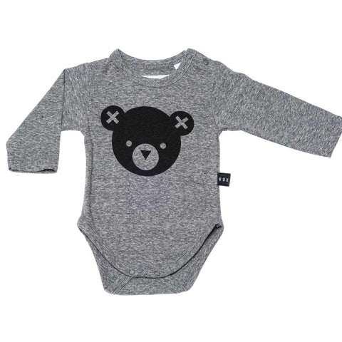 HuxBaby AW16 Grey Hux Bear Baby Body at Yellow Lolly