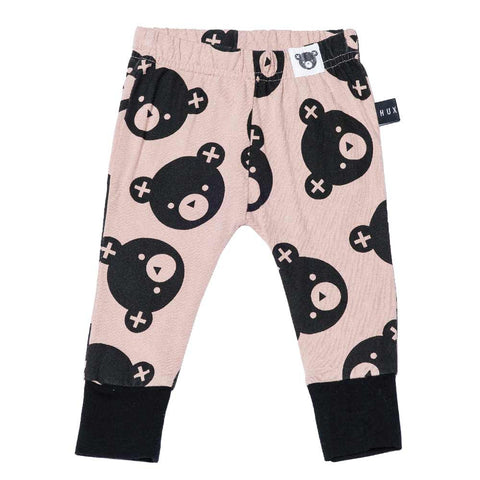 HuxBaby UK Dusky Pink Falling Bears Skinny Leggings