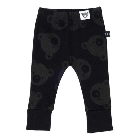 HuxBaby UK Black Falling Bears Skinny Leggings