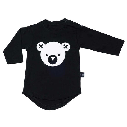 HuxBaby UK Black Hux Bear Long Sleeved T at Yellow Lolly