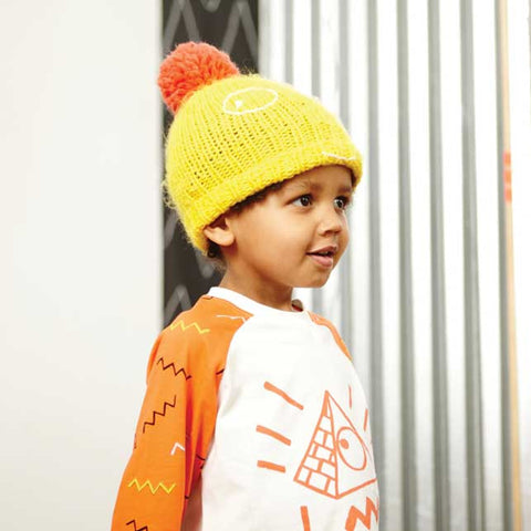 Indikidual Sol Pyramid Orange Raglan T-Shirt - Rufus