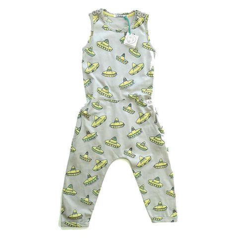 Indikidual SS16 Jammin Grey Sombrero Jumpsuit at Yellow Lolly