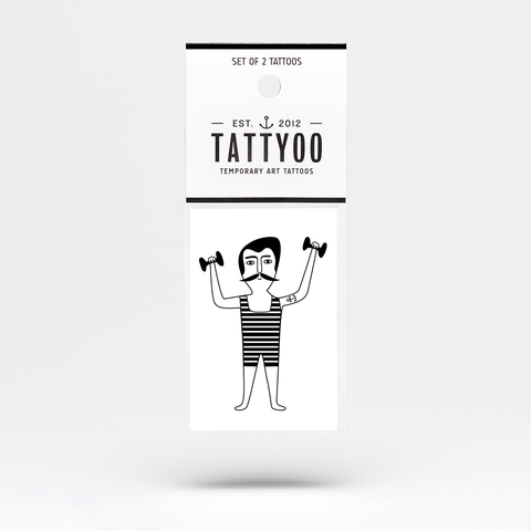 Tattyoo Strongman Temporary Kids Tattoo in Packet