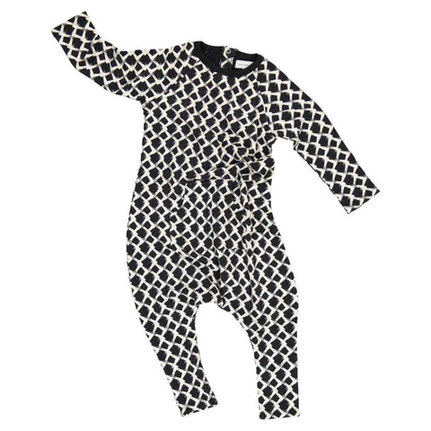 Jax & Hedley Washed Black Mountain Onesie - Yellow Lolly