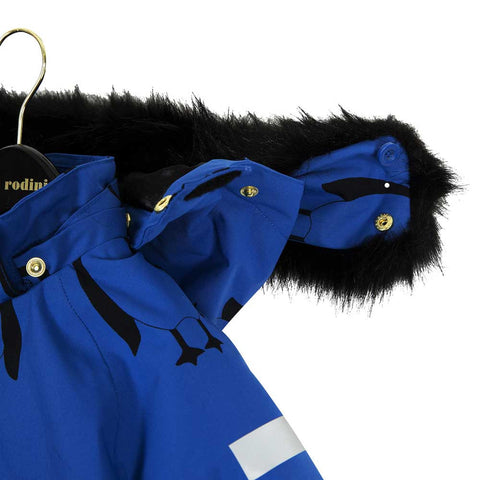 Mini Rodini Blue Siberia Totem Jacket - Hood Detail