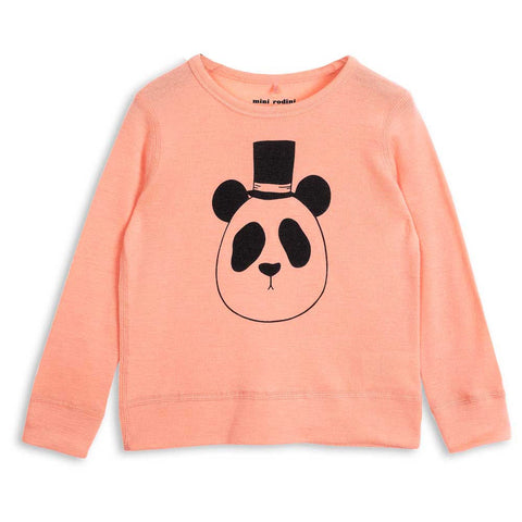 Mini Rodini AW16 Peachy Coral Panda Wool Top