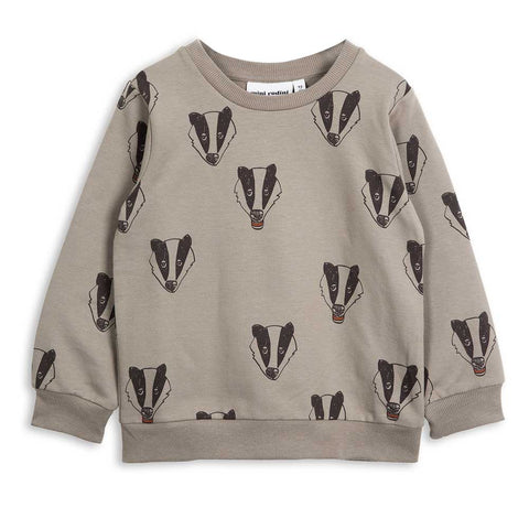 Mini Rodini AW16 Grey Badger Sweat Shirt