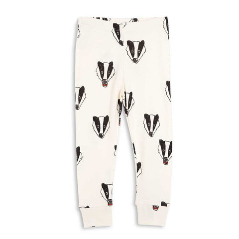 Mini Rodini AW16 Off White Badger Baby Leggings