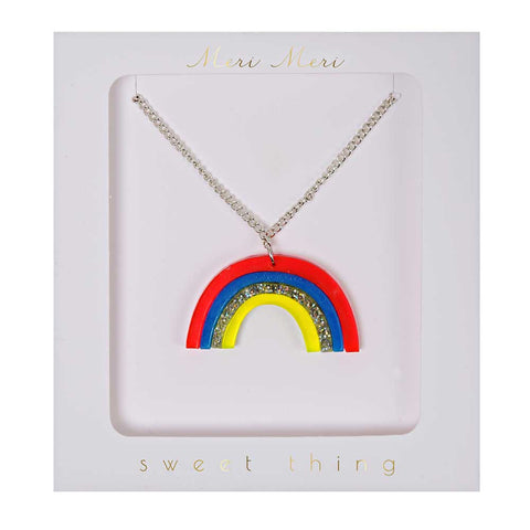 Meri Meri Rainbow Necklace - Yellow Lolly