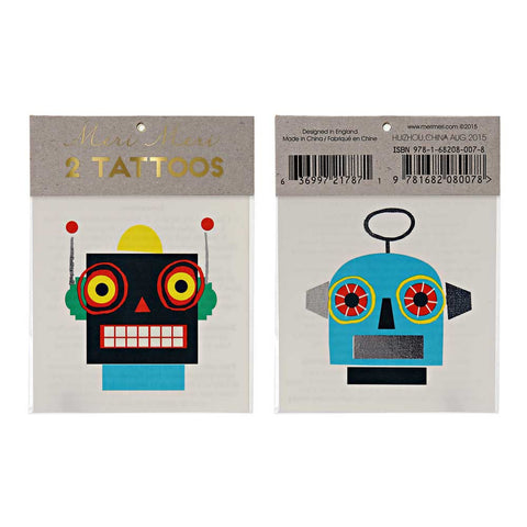 Meri Meri Robot Tattoos at Yellow Lolly