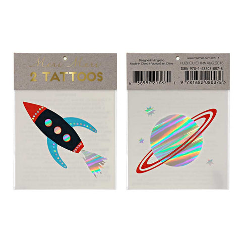 Meri Meri Space Tattoos at Yellow Lolly