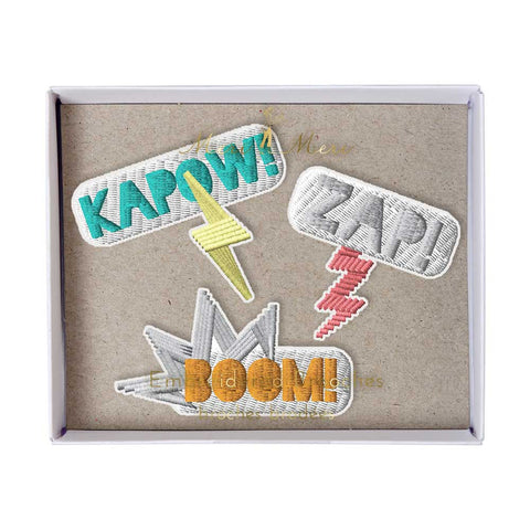 Meri Meri Kapow Embroidered Brooches - Yellow Lolly