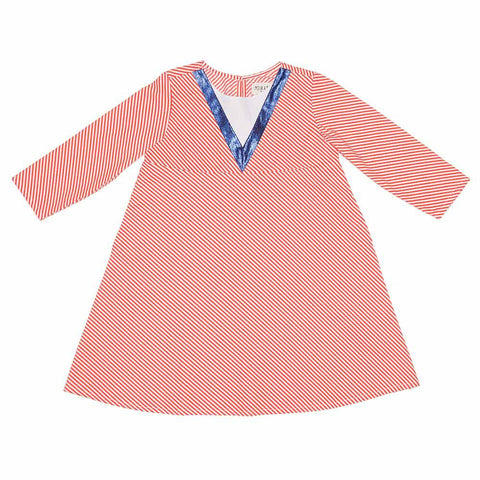 Milk & Biscuits Diagonal Stripe Girl's A-Line Dress at Yellow Lolly