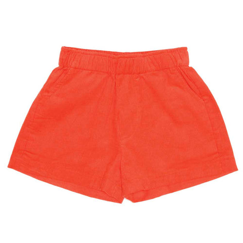 Milk & Biscuits SS16 Tomato Red Cord Kids Shorts at Yellow Lolly