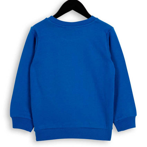 Mini Rodini Blue Winking Bear Sweatshirt - Back View