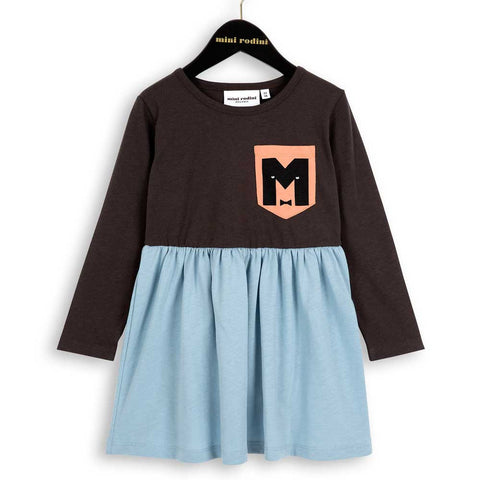 Mini Rodini AW16 M Black and Blue Organic Cotton Dress
