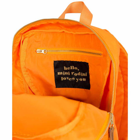 Mini Rodini AW16 Orange Panda Backpack at Yellow Lolly - Detail