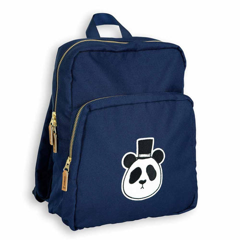 Mini Rodini AW16 Blue Panda Backpack at Yellow Lolly