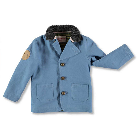 Nadadelazos Blue Denim Workers Jacket at Yellow Lolly