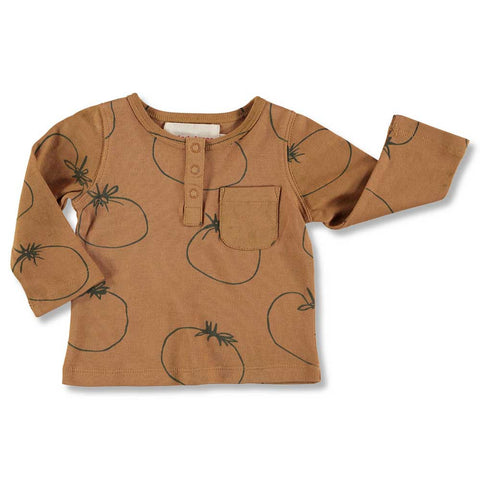 Nadadelazos AW16 Buttoned Sienna Tomato Baby T Shirt