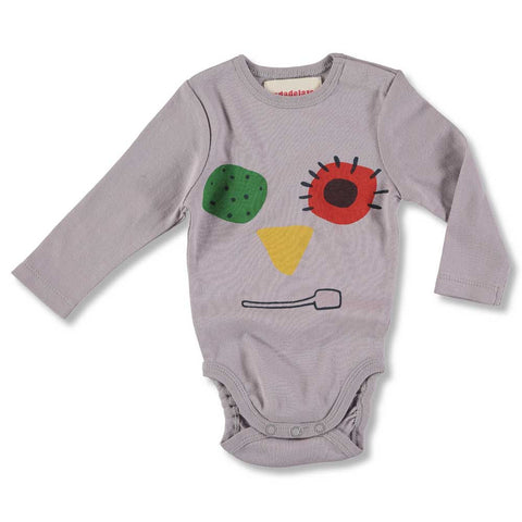 Nadadelazos AW16 Signore Gelato Grey Baby Body in Organic Cotton