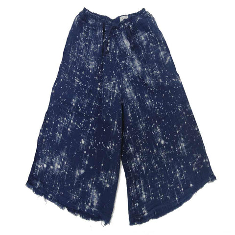 Nico Nico Virgo Indigo Speckled Culottes - Yellow Lolly