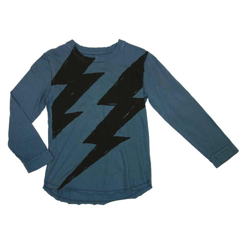 Nico Nico Blue Flash Long Sleeved T-Shirt - Yellow Lolly