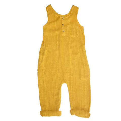 Nico Nico Mango Reed Textured Romper - Yellow Lolly