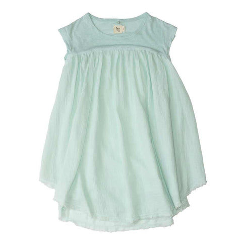 Nico Nico Mint Girls' Summer Hemp Dress - Yellow Lolly