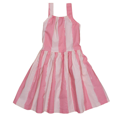 Noé and Zoë Rose Pink Stripes Dancing Dress - Yellow Lolly
