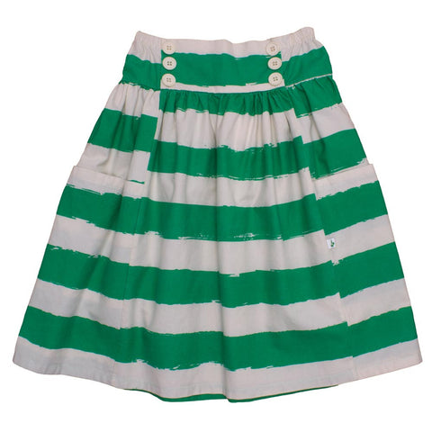 Noé and Zoë Green Stripes Sailor Skirt - Yellow Lolly