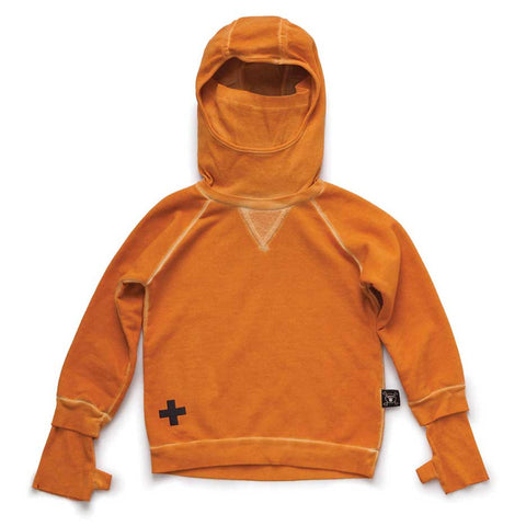 Nununu AW16 Tangerine Dyed Ninja Sweatshirt at Ye;low Lolly