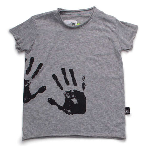 Nununu SS17 Hand Print Grey T Shirt at Yellow Lolly