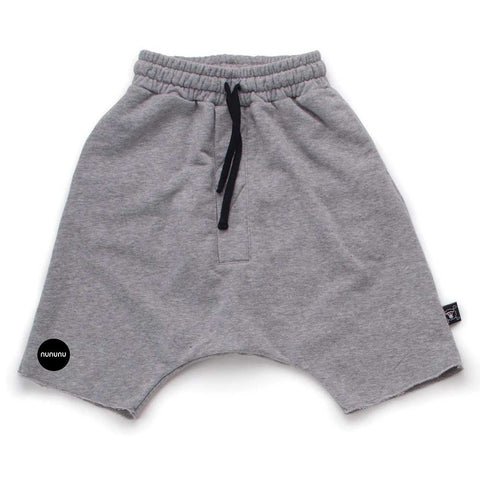 Nununu SS17 Grey Oversized Child's Sweat Shorts at Yellow Lolly