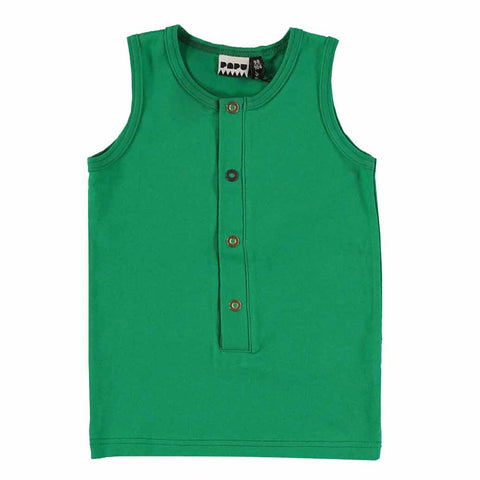 Papu Cucumber Green Kids Vest Top at Yellow Lolly