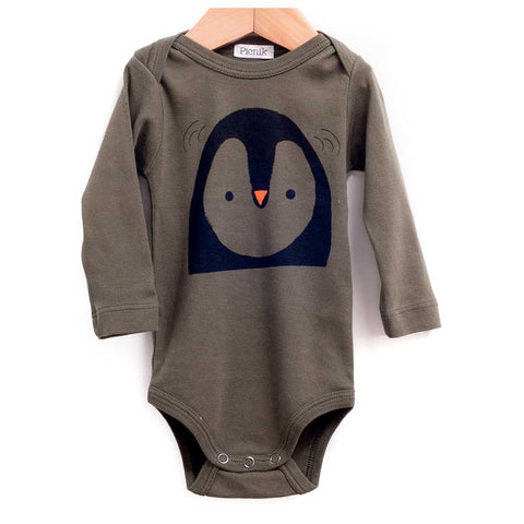 Picnik Barcelona Khaki Penguin Baby Body - Yellow Lolly