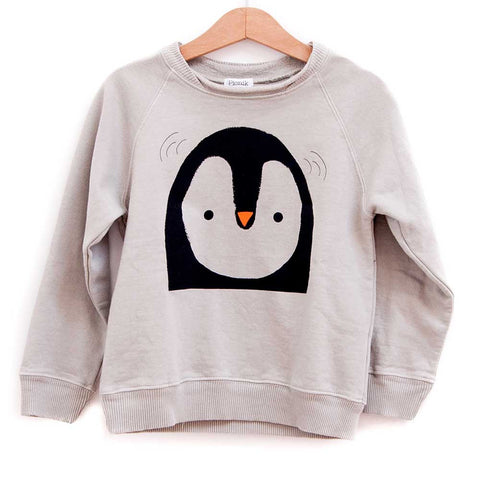 Picnik Barcelona Cream Penguin Sweatshirt - Yellow Lolly